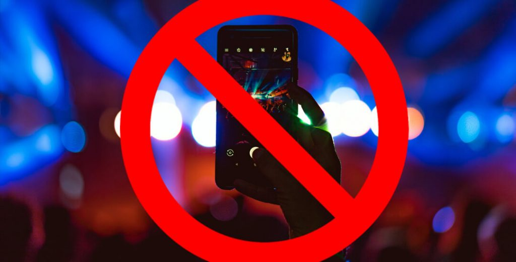 Prohibir moviles en eventos musicales The Last Unicorn